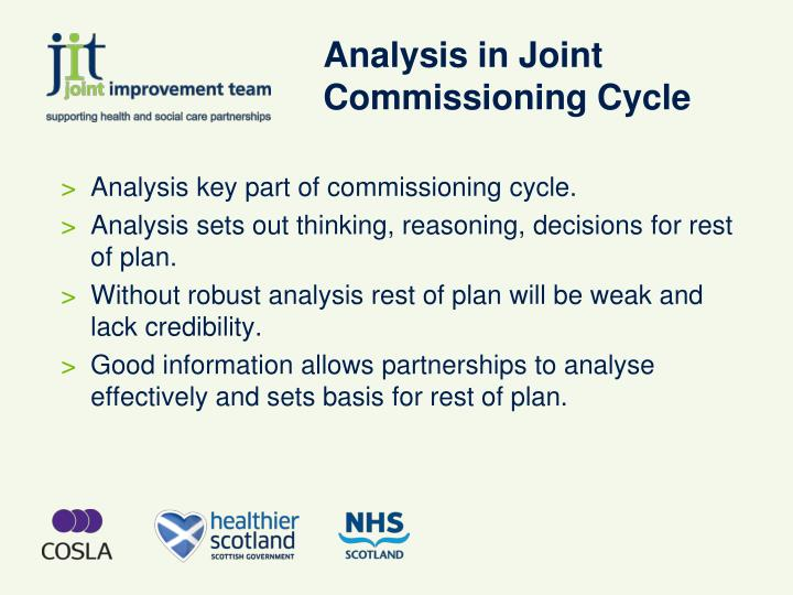 Analysis in joint commissioning cycle