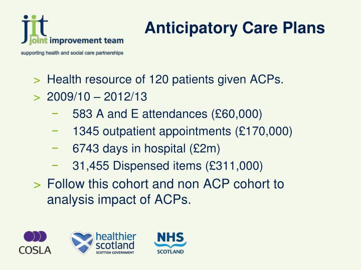 Anticipatory Care Plans