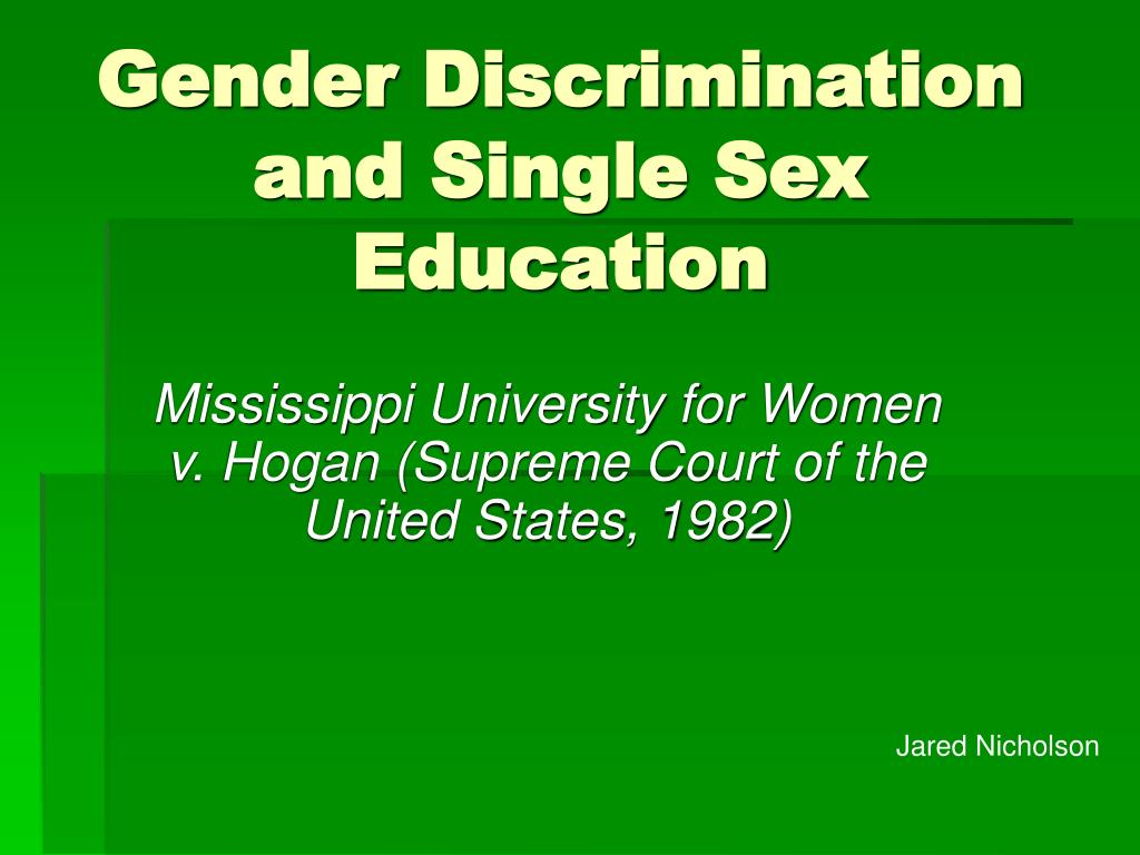 gender discrimination in education