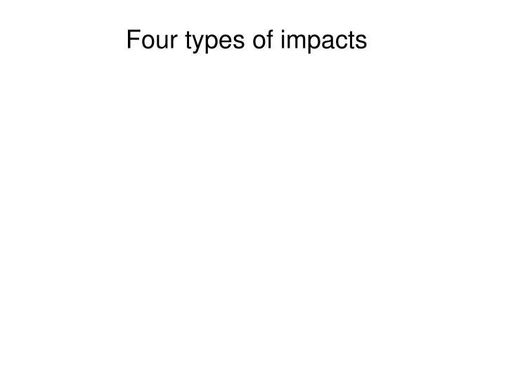 Four types of impacts