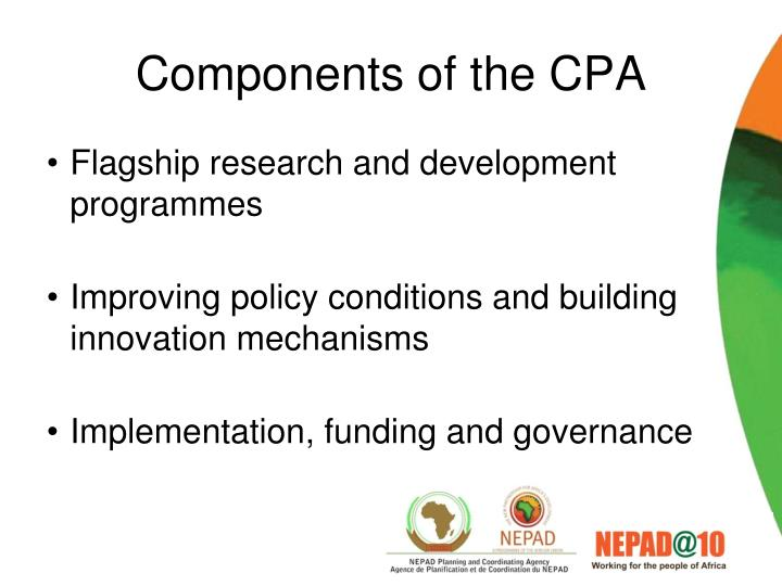 Components of the CPA