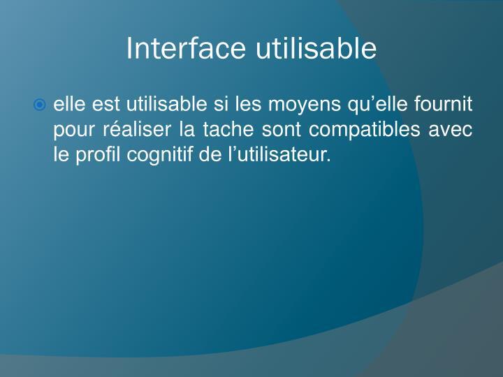 Interface utilisable