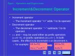 increment decrement operator