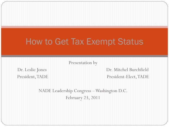 how to get tax exempt status n.