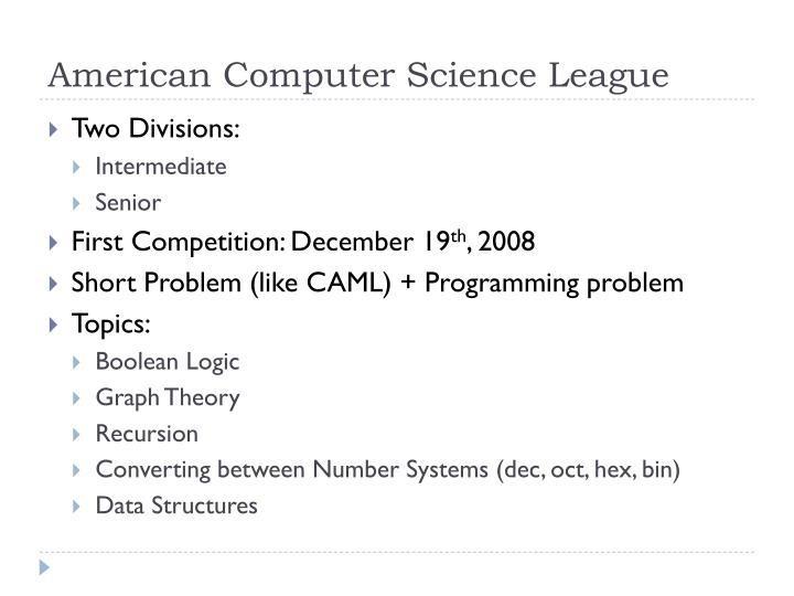 American computer science league