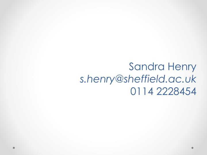 Sandra Henry