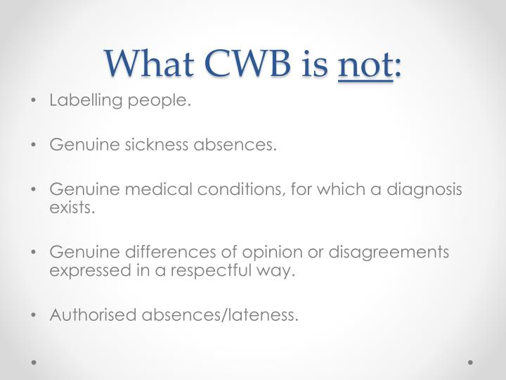 What CWB is