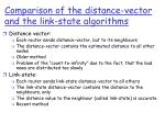comparison of the distance vector and the link state algorithms