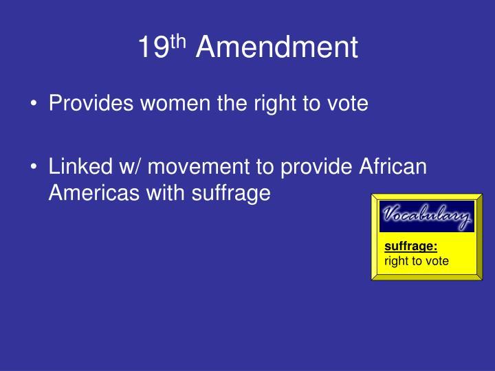 suffrage: