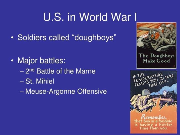 U.S. in World War I