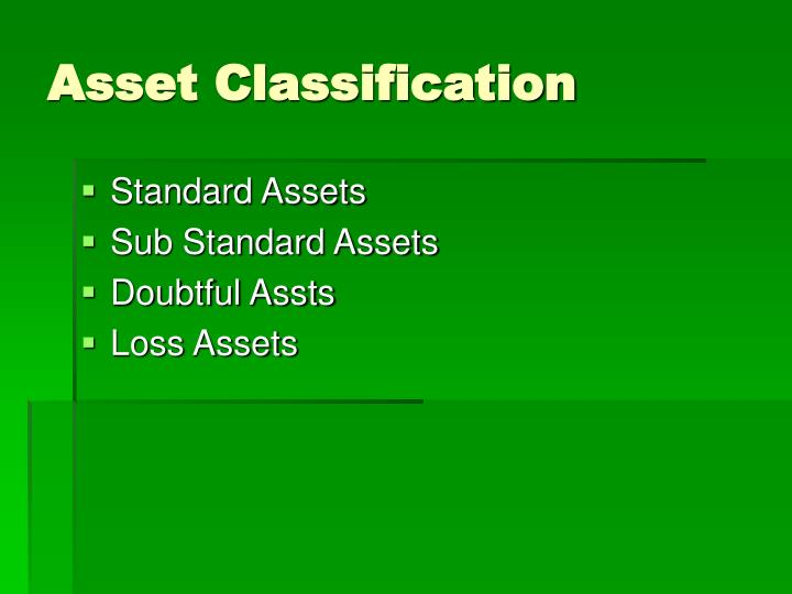 Asset Classification
