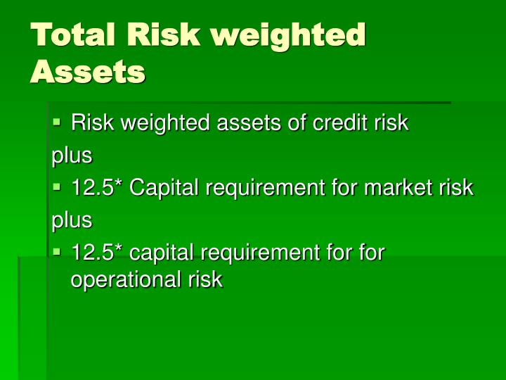 Total risk weighted assets