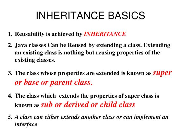 inheritance basics n.