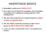 inheritance basics