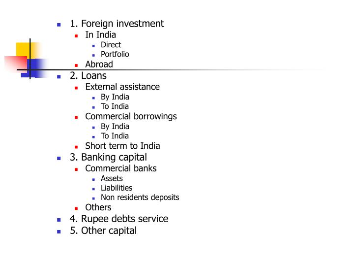 1. Foreign investment