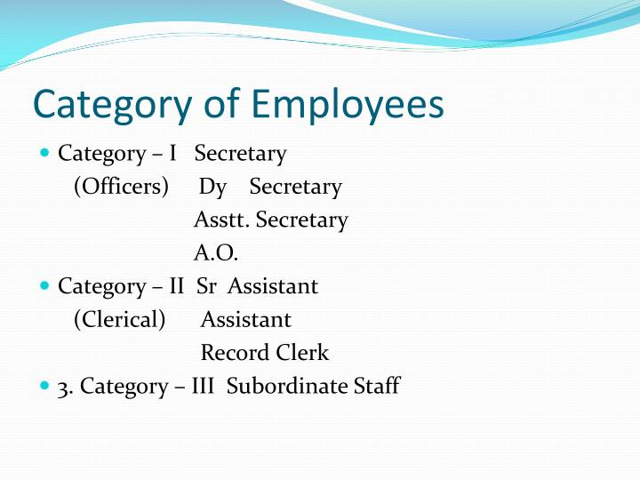 Category of employees