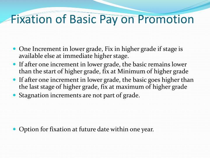 Fixation of Basic Pay on Promotion