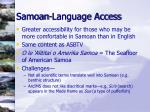samoan language access