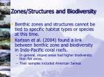 zones structures and biodiversity