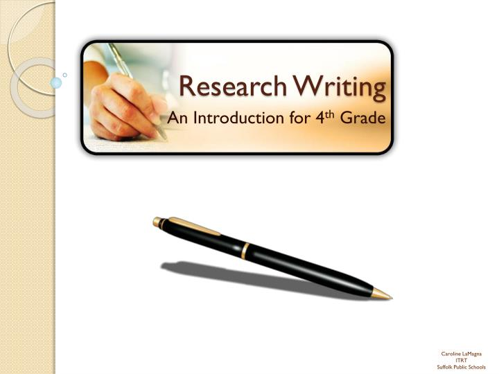 writing research paper introduction powerpoint