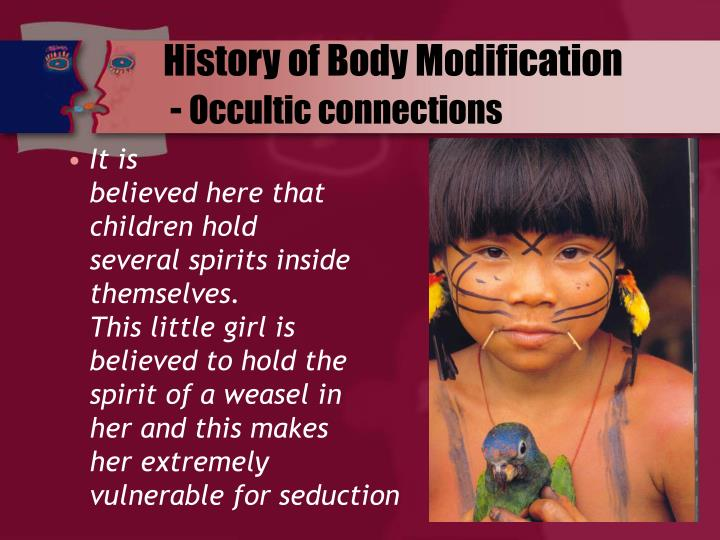 history of body modification Body modification is a practice that is likely as old as mankind, and it has a fascinating history in this lesson, we will define body modification and explore some of the different types that.