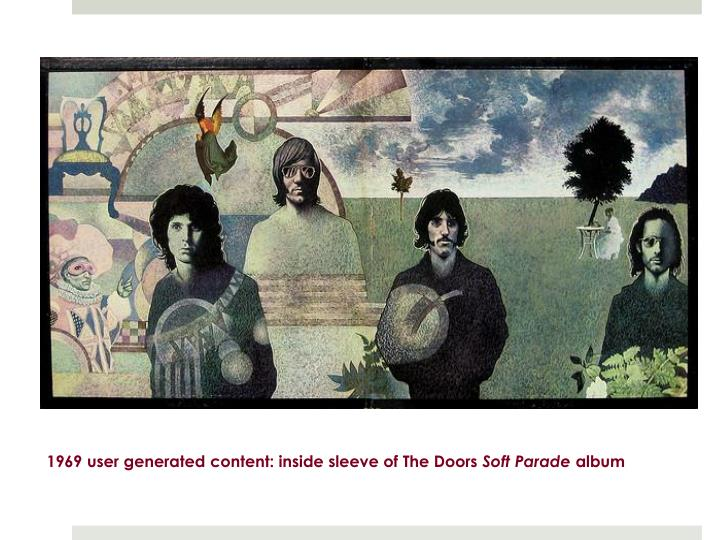 1969 user generated content: inside sleeve of The Doors