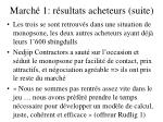 march 1 r sultats acheteurs suite