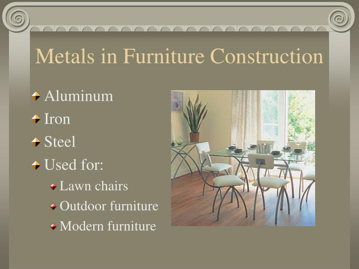 Metals in Furniture Construction