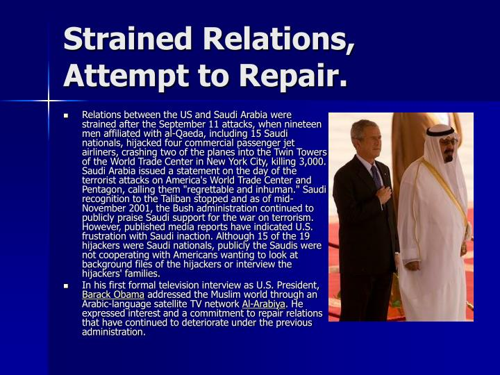 Strained Relations, Attempt to Repair.