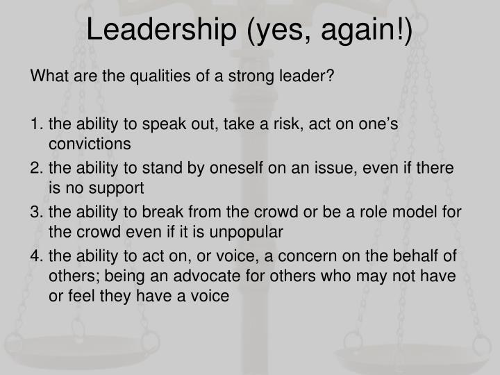 Leadership (yes, again!)