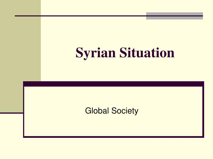 syrian situation n.