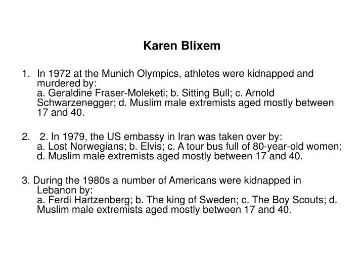 Karen Blixem