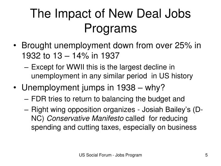 The Impact of New Deal Jobs Programs