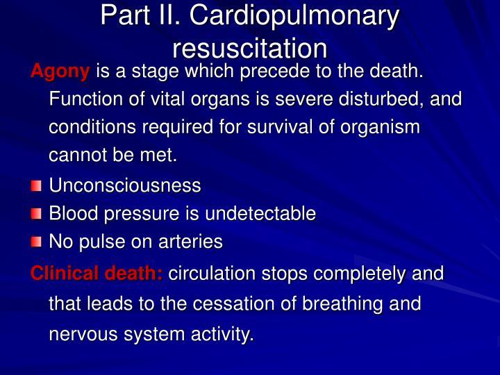 Part II. Cardiopulmonary resuscitation