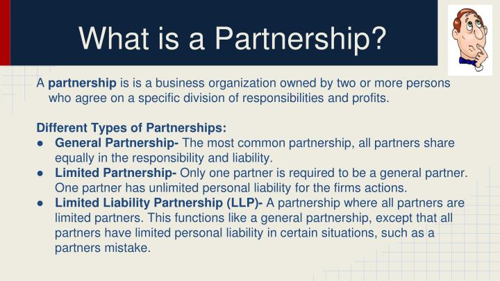 role of a partner in a partnership firm essay Partnership - essay example nobody the various partners that constitute the partnership firm act 'in the general partner on the other has an active role to.
