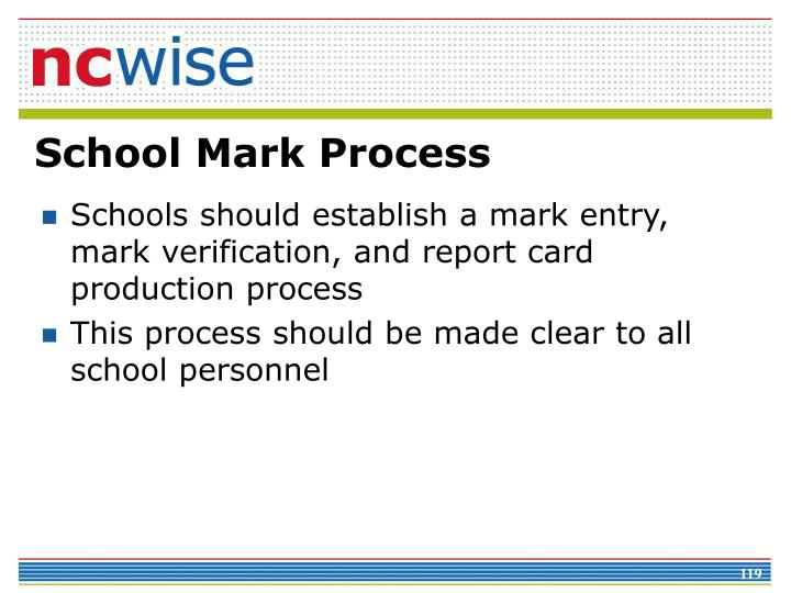 School Mark Process