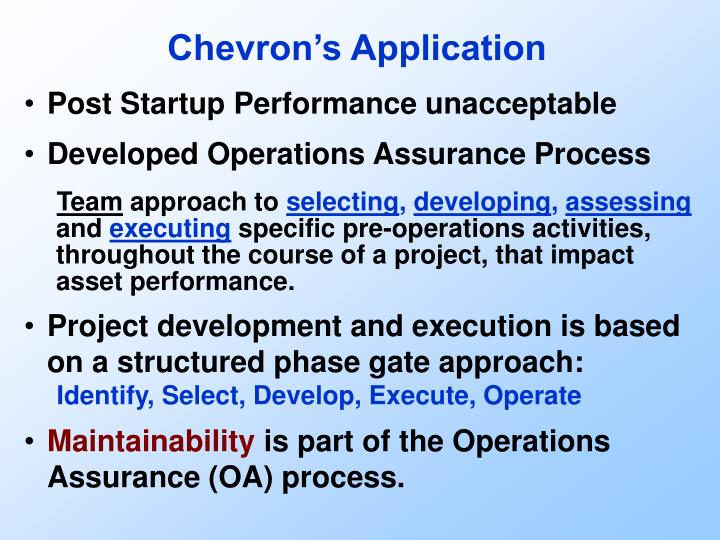 Chevron's Application