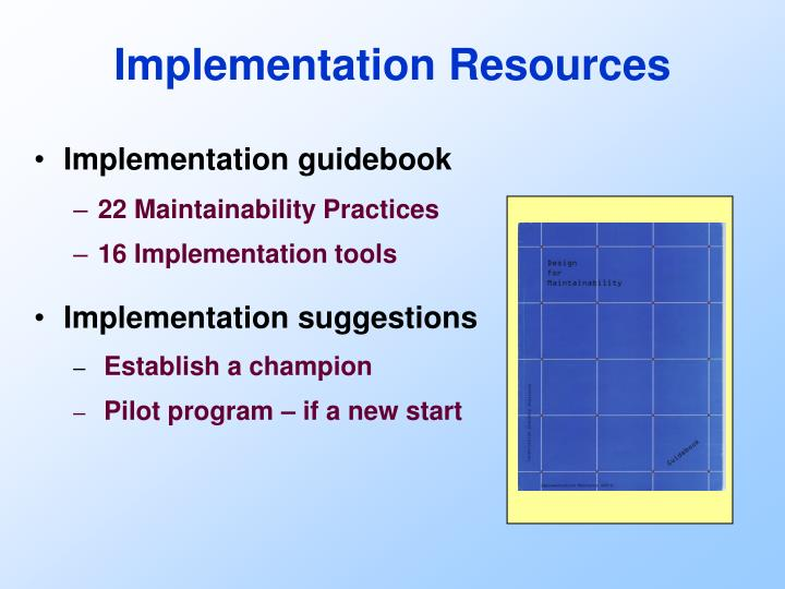Implementation guidebook