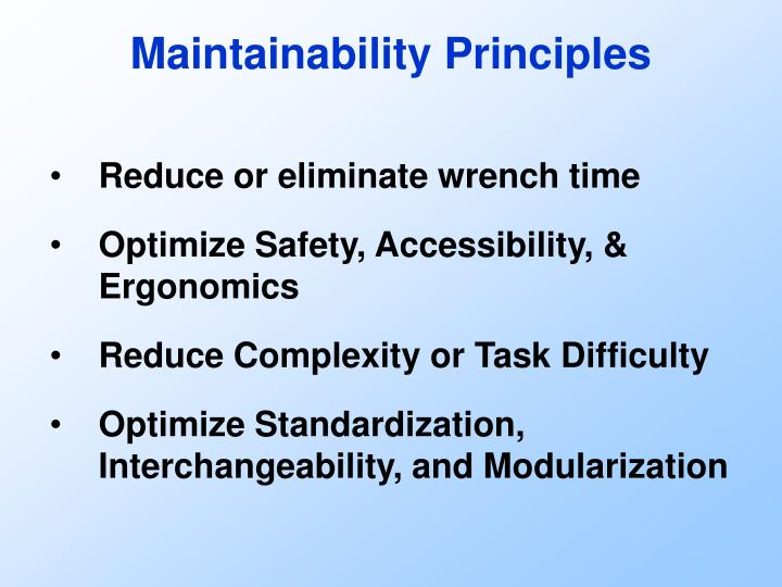 Maintainability Principles
