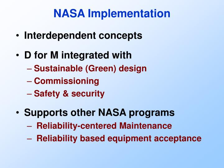 NASA Implementation