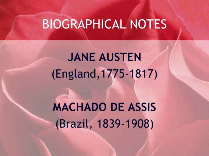 Biographical notes