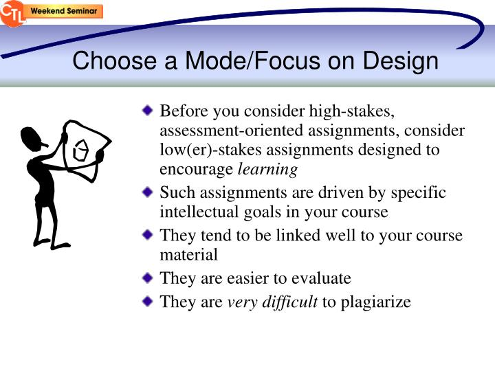 Choose a Mode/Focus on Design