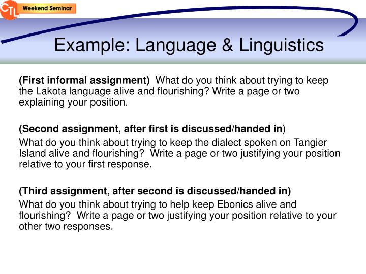 Example: Language & Linguistics