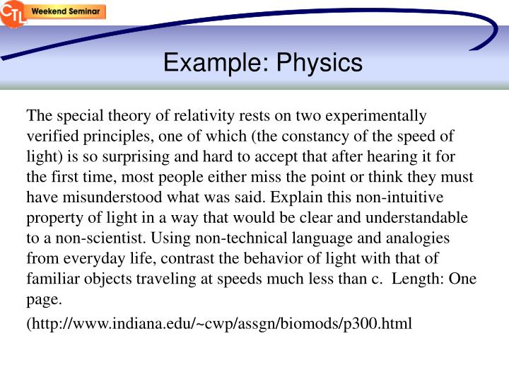 Example: Physics