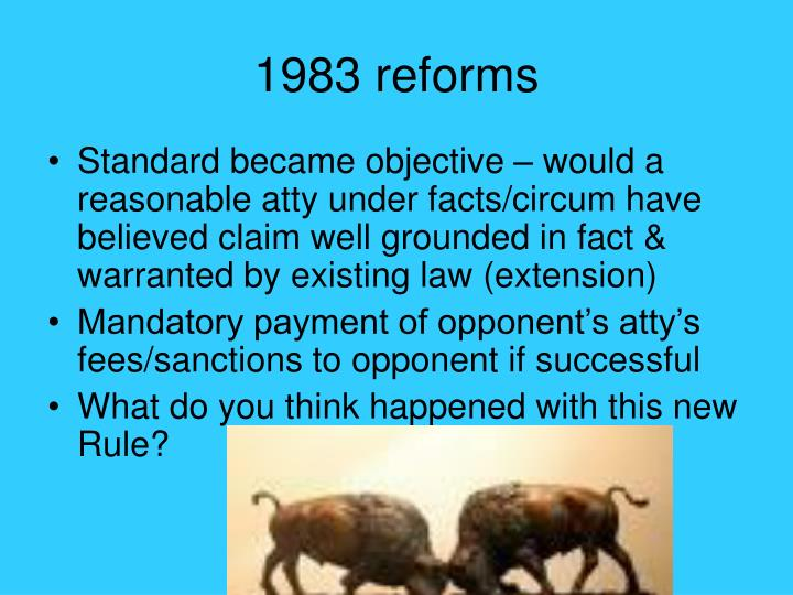 1983 reforms