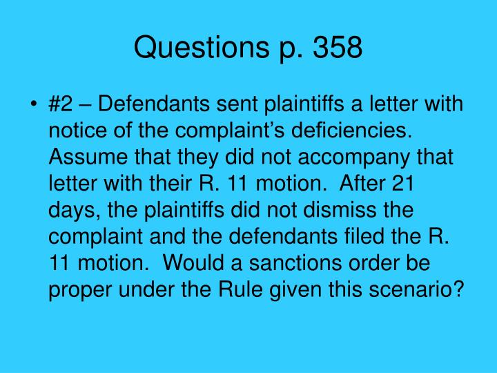 Questions p. 358