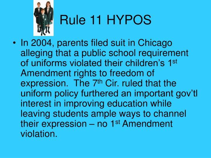 Rule 11 HYPOS