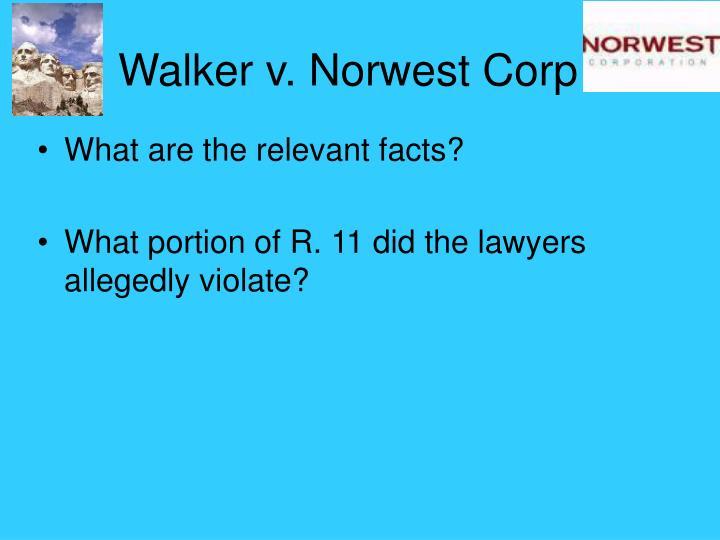 Walker v. Norwest Corp