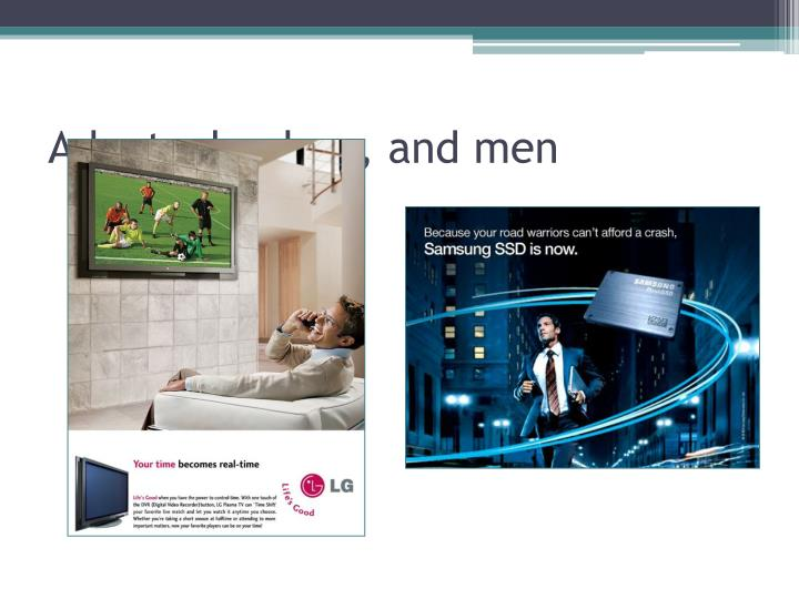 Ads, technology, and men