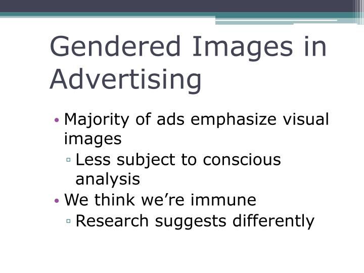 Gendered Images in Advertising